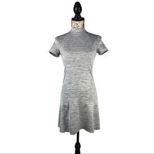 Modest Zara A lineW&B Collection Grey Casual Dress